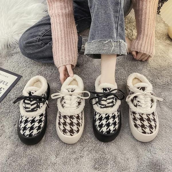 毛毛鞋半拖鞋女外穿2020秋冬新款厚底大頭孕婦居家包頭棉拖 後街五號