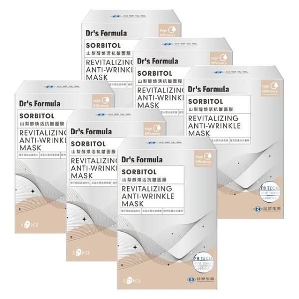 【南紡購物中心】《台塑生醫》Dr's Formula山梨醇煥活抗皺面膜(5片/盒)*6盒入