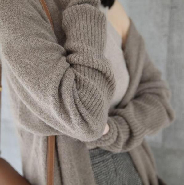 長款外套女 新品大衣女中長款寬鬆毛衣外套針織開衫加厚外搭【快速出貨八五鉅惠】