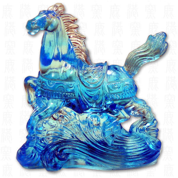 鹿港窯-居家開運商品-琉璃SS十二生肖文鎮-馬-附精美包裝◆免運費送到家