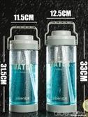 超大容量水杯塑料3L杯子便攜水壺戶外運動大號泡茶吸管太空杯 深藏blue