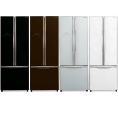 日立 421L 三門對開琉璃變頻冰箱 琉璃棕/琉璃白/琉璃瓷/琉璃黑  RG430