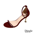 Dingle丁果ღ歐美時尚一字帶水鑽性感细跟高跟鞋(四色34-41)