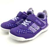 《7+1童鞋》中童 日本 IFME 輕量  機能  運動鞋  C429 紫色