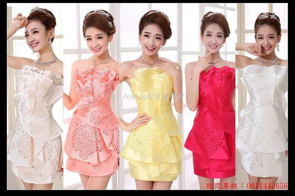 (45 Design定做款)  客製化7天到貨   剪紙禮服 短款禮服 晚禮服 伴娘結婚新娘禮服 晚宴禮服