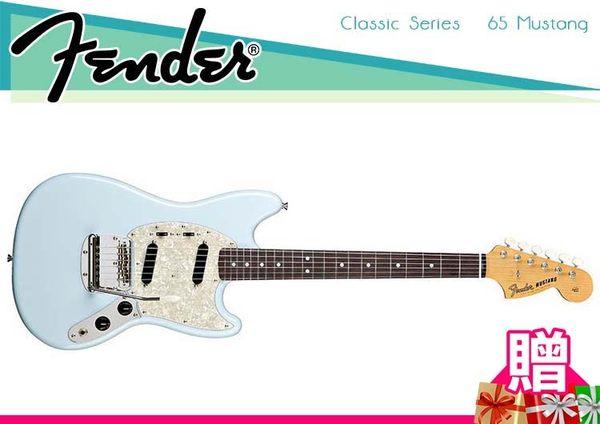 【小麥老師 樂器館】買1贈12!Fender Classic Series 65 Mustang 電吉他