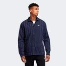 ISNEAKERS ADIDAS ORIGINALS 愛迪達 三葉草 深藍 藍白 條紋 襯衫外套 口袋 男款 運動 ED5515