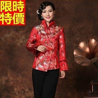 唐裝上衣-別緻雙層立領精緻美人圖印花女中式禮服3色66ac11【時尚巴黎】