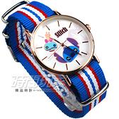 Disney 迪士尼 時尚卡通錶 史迪奇 帆布休閒 造型錶 女錶 DM史迪奇A