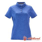 【wildland 荒野】女 彈性本布領POLO上衣『藍紫』0A71639 T恤 POLO衫 上衣 短袖 排汗 休閒 戶外 登山