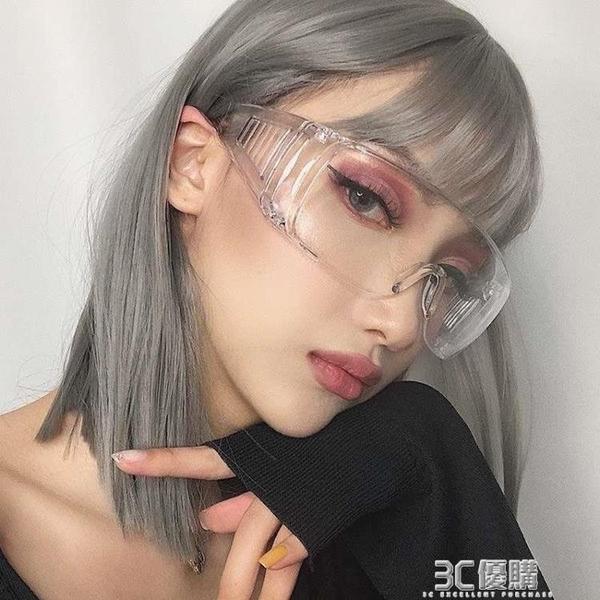 高清護目鏡防霧防唾沫防飛沫飛濺騎行防風防塵防護鏡男女平光眼鏡 3C優購