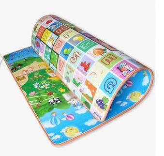 1.5m*1.8m*2cm 婴儿童宝宝爬行垫双面加厚2CM3CM环保爬爬垫爬行泡沫地垫游戏毯 - 炫彩腳ㄚ折扣店-