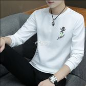 長袖T恤 男圓領韓版男士衛衣學生衣服修身薄款打底衫男裝 俏腳丫