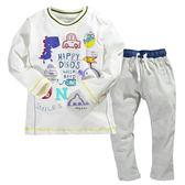 (零碼出清) 卡通肩扣居家服上衣+條紋長褲 套裝 橘魔法Baby magic 現貨 小童 睡衣