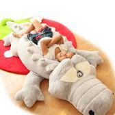可愛大號鱷魚毛絨玩具公仔睡覺抱枕長條枕布娃娃玩偶生日禮物女孩igo『櫻花小屋』