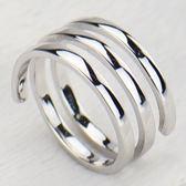 925純銀戒指 圈圈開口戒-時尚個性多層繞圈生日情人節禮物女飾品73lz103【時尚巴黎】
