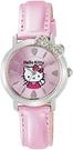 Citizen【日本代購】 凱蒂貓 Hello Kitty 指針顯示皮革錶帶腕錶 粉色