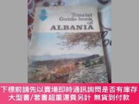 二手書博民逛書店Tourist罕見Guide book of ALBANIA(裏面寫有阿爾巴尼亞同誌 賀福吉道烏塔依寫給中
