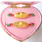 EZGOLD ♥寶貝天使♥ 彌月金飾音樂禮盒 (0.10錢)