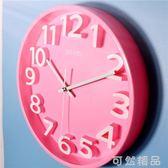 【3D彩色】超靜音現代簡約立體數字客廳臥室裝飾壁掛時鐘表石英鐘 可然精品