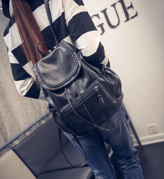 韓版後背包 雙肩背包 PU 旅行背包 後背包 學生書包 手提包 休閒背包 雙肩包 手提 側背