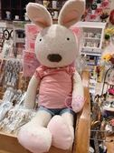♥小花花日本精品♥法國兔玩偶抱偶娃娃布偶居家客廳臥室裝飾收藏必備生日禮物50126200