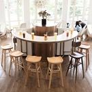 吧台椅北歐實木家用吧台凳現代簡約酒吧椅創意吧椅吧凳時尚高腳凳【全館免運九折下殺】