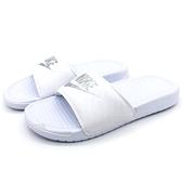 《7+1童鞋》NIKE WMNS BENASSI JDI 精緻菱格紋 輕量 拖鞋 G878 白色