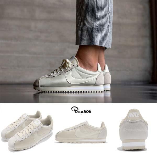 Nike 阿甘鞋 Wmns Classic Cortez Nylon 黃 白 女鞋 尼龍鞋面 粉色系【PUMP306】 749864-201