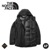 【The North Face 美國 女 GORE-TEX羽絨兩件式外套《黑》】46I7/防水外套/兩件式外套/羽絨外套