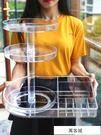 化妝品收納盒旋轉置物架梳妝台透明亞克力口紅刷子護桌面整理箱 萬客城