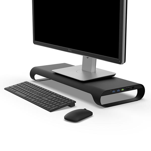 MONITORMATE Probase X USB3.0多功能擴充平台 電腦螢幕架增高顯示器置物架底座