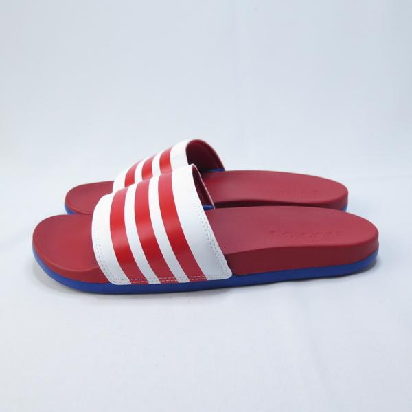 ADIDAS ADILETTE COMFOR 拖鞋 記憶鞋墊 EG1853 男款 紅藍【iSport愛運動】