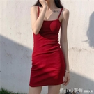 性感細肩帶吊帶短裙女夏裝2020新款韓版時尚緊身包臀打底洋裝女 俏girl