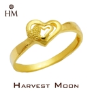 Harvest Moon 富家精品 黃金尾戒 心心相映 9999 純金金飾 女尾戒子 黃金戒指 可調式戒圍 GR03723