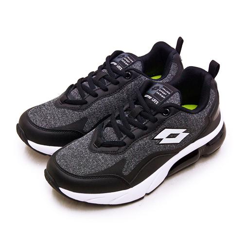 LIKA夢 LOTTO 專業避震氣墊慢跑鞋 FLOAT系列 黑灰 2190 女
