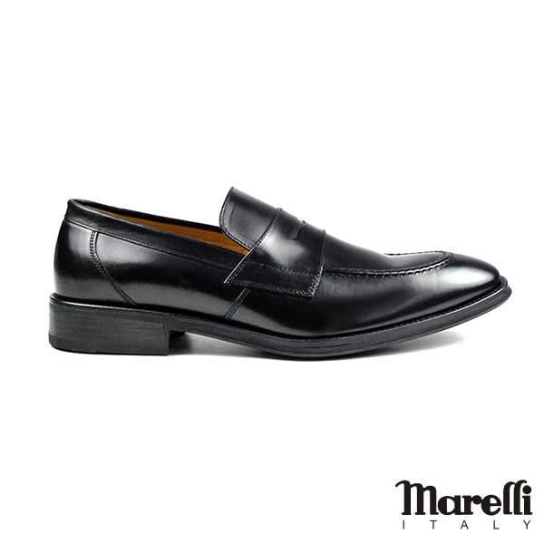 【Marelli】時尚簡約樂福鞋 黑色(2397-BL)