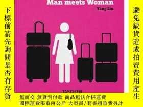 二手書博民逛書店原版進口Yang罕見Liu. Man meets Woman男女
