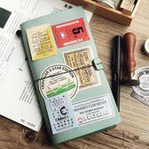 洛林原創TN手帳本旅行者復古活頁牛皮文具筆記本子日式霧蠟皮手賬 挪威森林