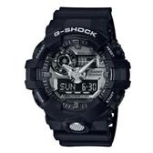CASIO G-SHOCK 3D立體整點刻度磨砂效果雙顯錶(GA-710-1A)