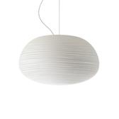 義大利 Foscarini Rituals 2 Suspension Lamp 34cm 玻璃刻紋系列 霧白 造型吊燈 - 寬廣型