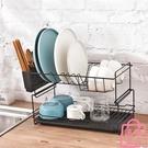 碗碟架瀝水架雙層餐具置物架家用碗筷收納盒瀝碗架【匯美優品】
