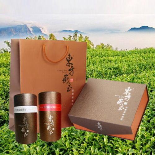 東方藏玉 - 茶葉禮盒 (阿里山紅烏龍+杉林溪雲霧茶)