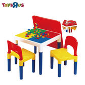 玩具反斗城【 Universe Of Imagination】2合1積木桌椅組