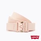 Levis 女款 皮帶 / 潮流釦環設計 / 回收再造纖維 / 玫瑰粉