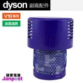 Dyson 戴森 副廠配件 V10 SV12 全系列適用 長版 HEPA 後置濾網 濾網 濾芯 filter 6孔 建軍電器