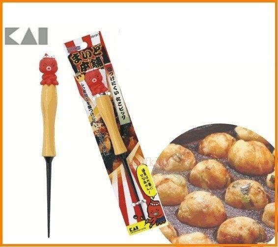 asdfkitty可愛家☆ 日本貝印-章魚造型多用途挑棒-鈍頭-章魚燒.雞蛋糕.紅豆餅都適用-日本製