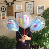 雙層氣球透明批發發夜-小巨蛋之家