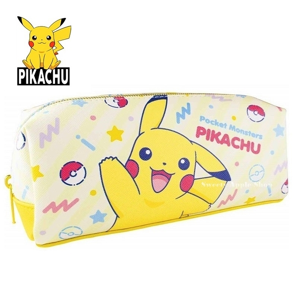 日本限定 寶可夢系列 皮卡丘 筆袋 / 收納袋 / 鉛筆盒 (黃色款)