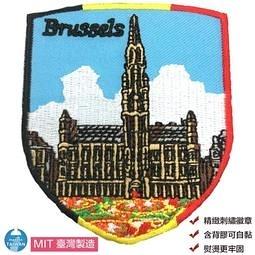 Bruges 布魯日徽章 貼紙 背膠補丁 布藝袖標 Flag Patch士氣章 外套 辨識 布章1入